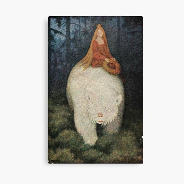 Postcard Theodor Kittelsen Hvitebjørn kong Valemon  Canvas Print