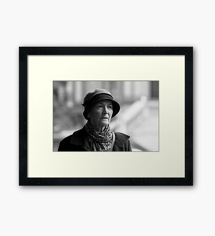 The Stare of Disgust Framed Print