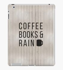 Coffee Books & Rain iPad Case/Skin