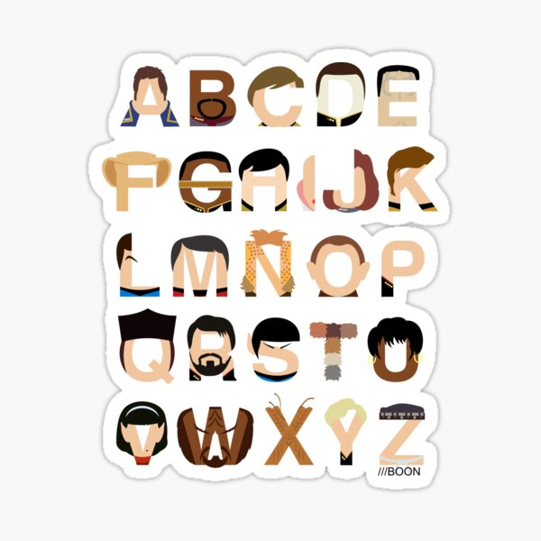 Star Trek Alphabet Sticker