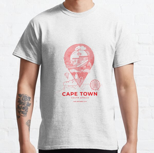 Cape Town, South Africa (Red/Pink) Classic T-Shirt