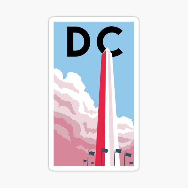 Washinton DC, Colorado Minimalist Poster Featuring the Washington Monument Sticker