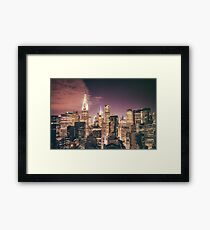 Chrysler Building - Night - New York City Framed Print