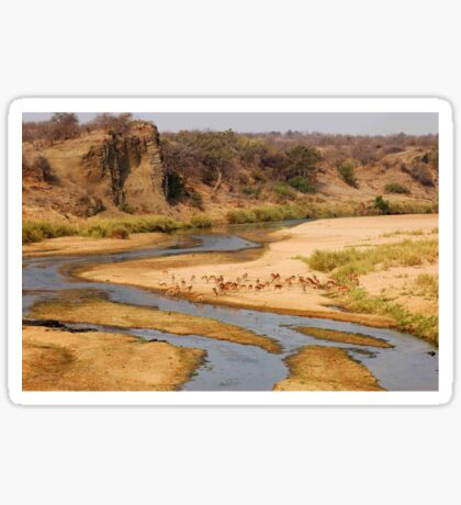 "Nature,Wildlife,Lanscape-capture - The Letaba River, ""KRUGER NATIONAL PARK"" ,SOUTH AFRICA Sticker"