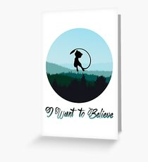 I Want to Believe in Mew Greeting Card