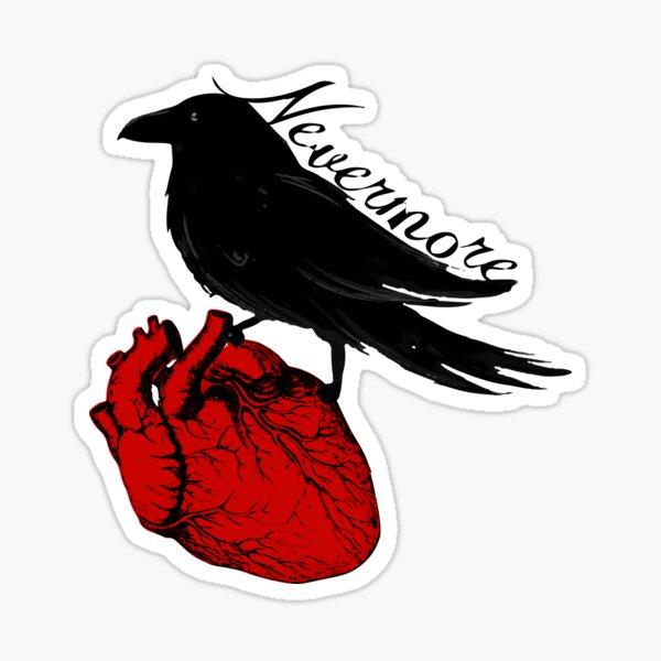 El cuervo delator Pegatina
