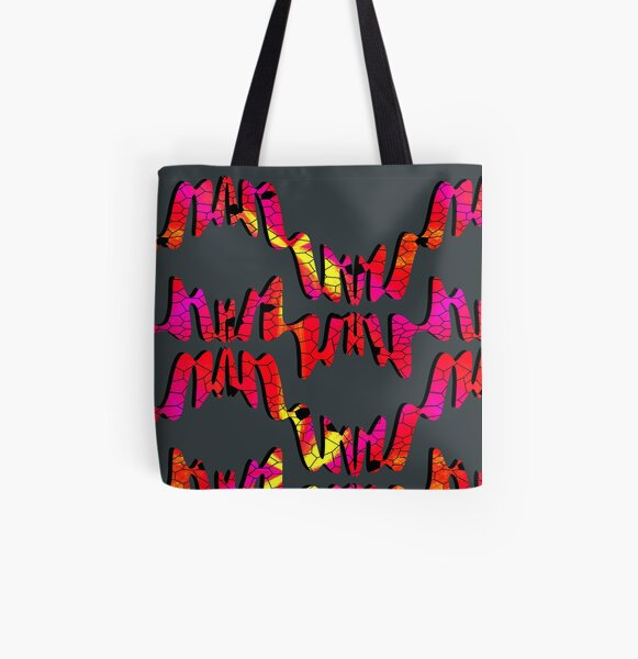 Neon crackle  All Over Print Tote Bag