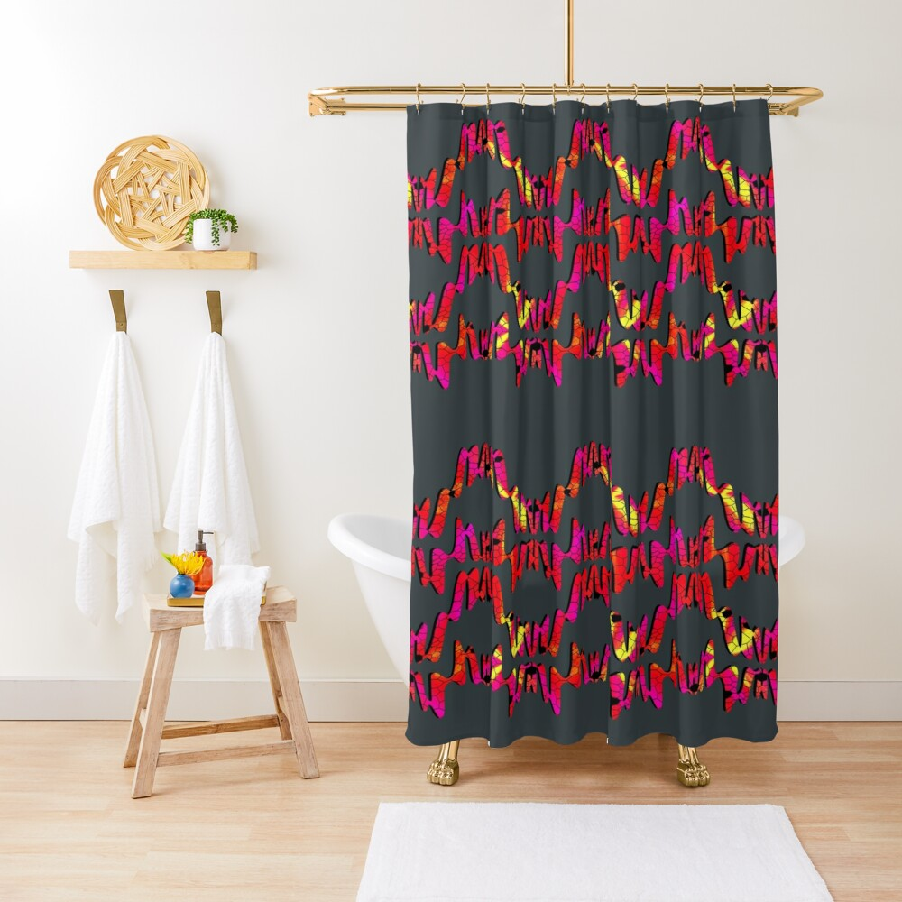 Neon crackle  Shower Curtain