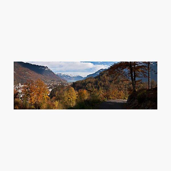 Interlaken from Heimwehfluh Photographic Print