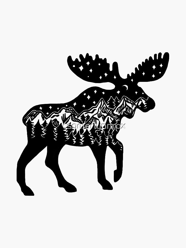 Moose by csomerlynnrox