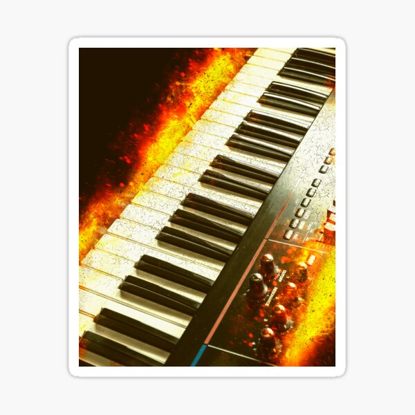 Flaming Hot Synth Sticker
