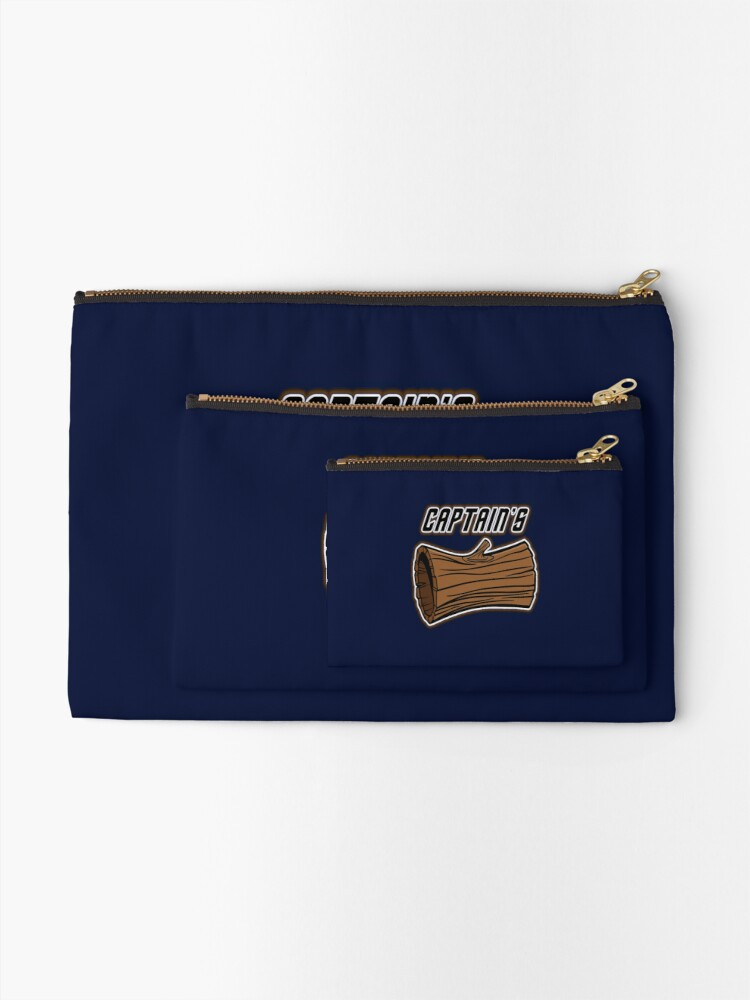 Alternate view of STAR TREK CAPTAINS LOG DESIGN -star trek rb partner program Zipper Pouch