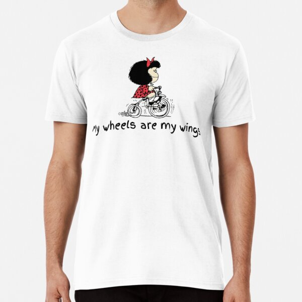 Mafalda en bicicleta Camiseta premium