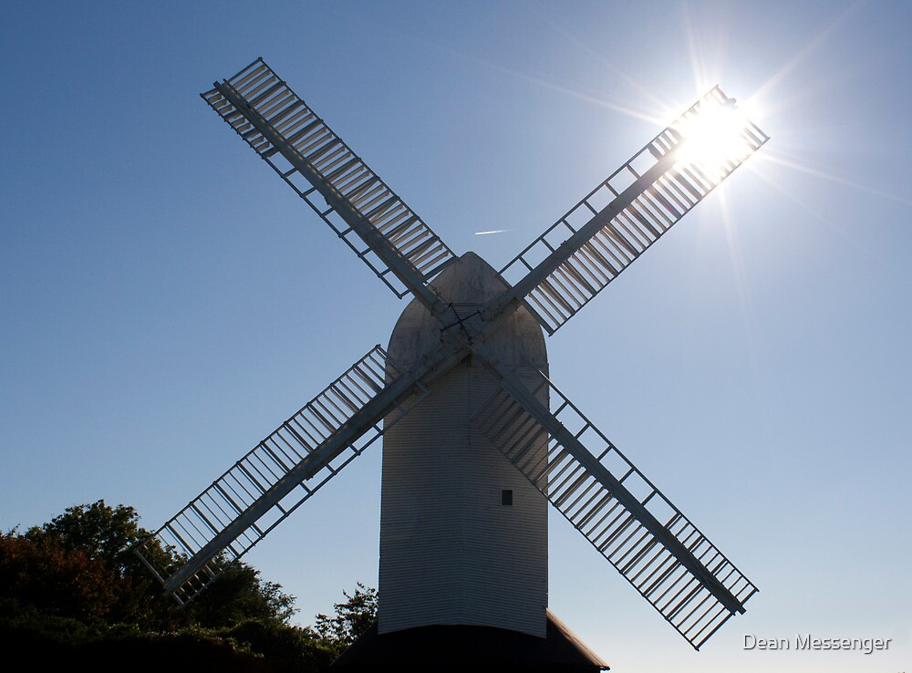 Windmill and sun rays by Dean Messenger
