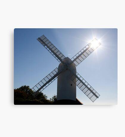 Windmill and sun rays Metal Print