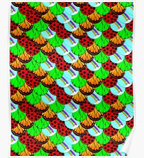 Nature Butterfly Wing Ladybug Leaf Sky Rainbow Poster