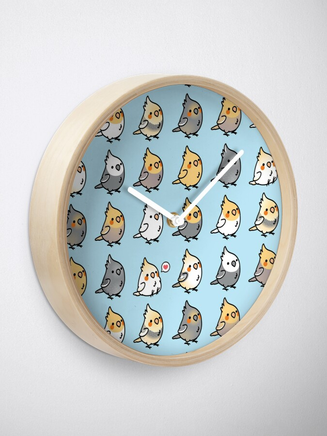 Alternate view of Chubby Cockatiel Collection Clock