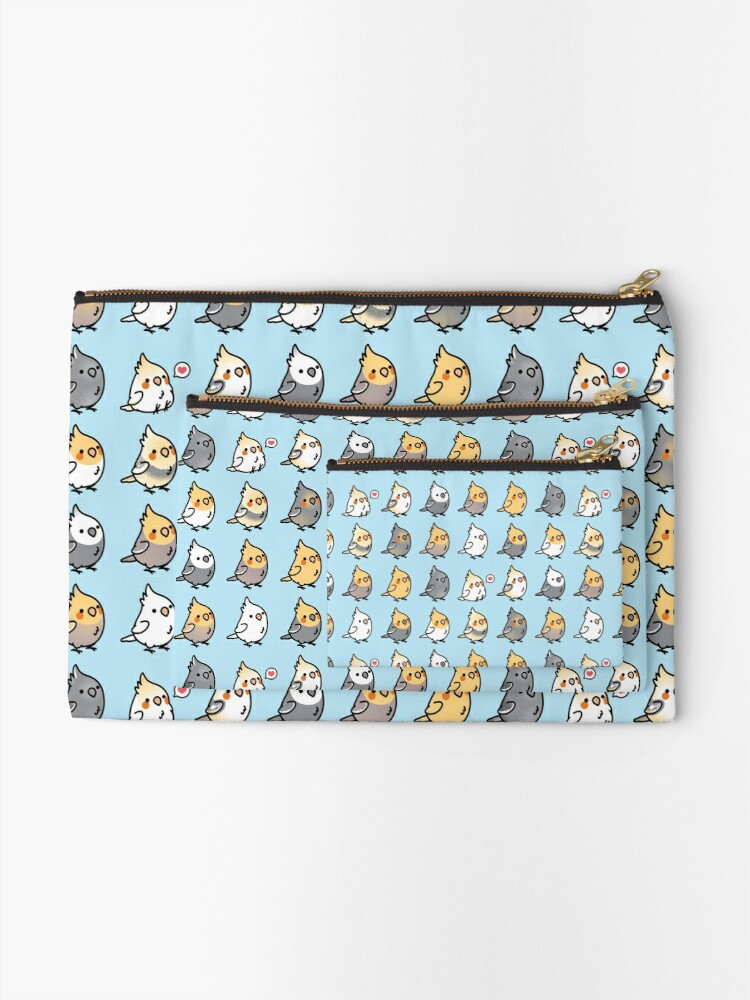 Alternate view of Chubby Cockatiel Collection Zipper Pouch