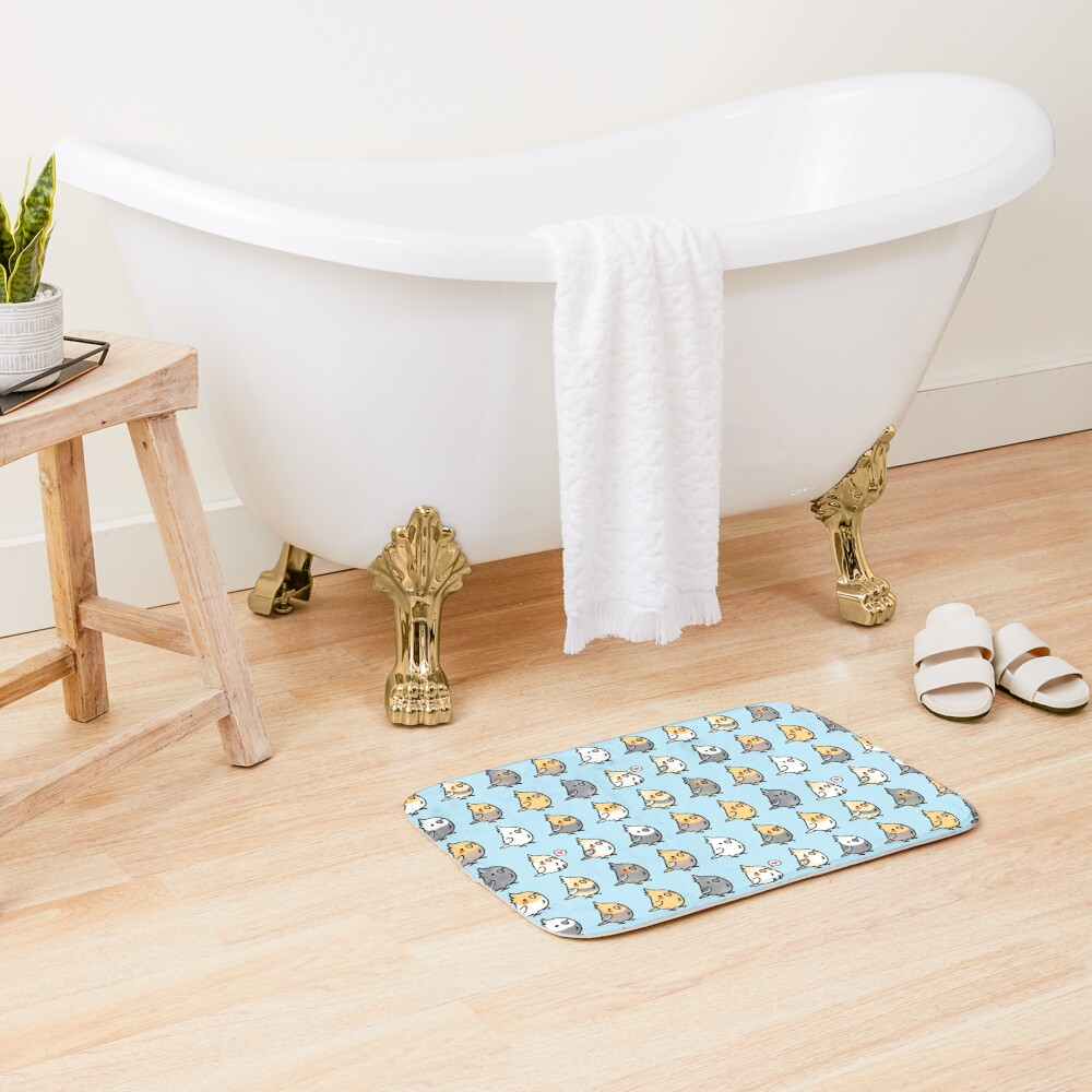 Chubby Cockatiel Collection Bath Mat