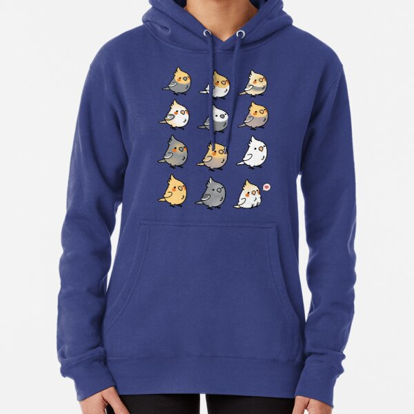 Chubby Cockatiel Collection Pullover Hoodie
