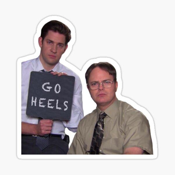 Jim und Dwight Go Heels Sticker
