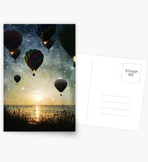The Night is for Romantic Journeys Postcards