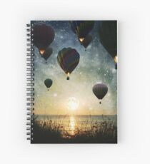 The Night is for Romantic Journeys Spiral Notebook