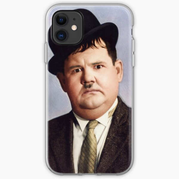 """Oliver """"Babe"""" Hardy in colour iPhone Soft Case"""