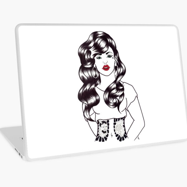 Blackwater girl - Hannya and Peony Laptop Skin