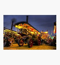 Showmans Engine by Night  Photographic Print