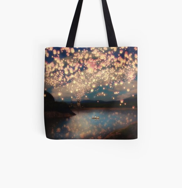 Wish Lanterns for Love All Over Print Tote Bag