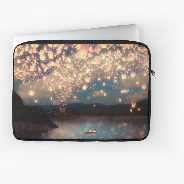 Wünsche Laternen für die Liebe Laptoptasche