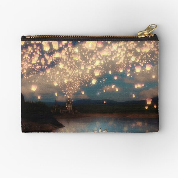 Wish Lanterns for Love Zipper Pouch