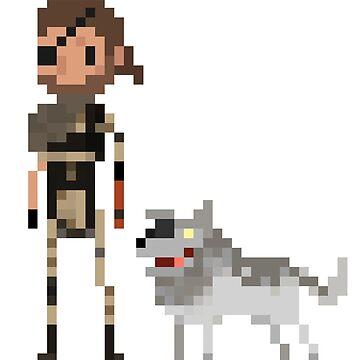 Pixel Big boss & Diamond dog by Tropelio