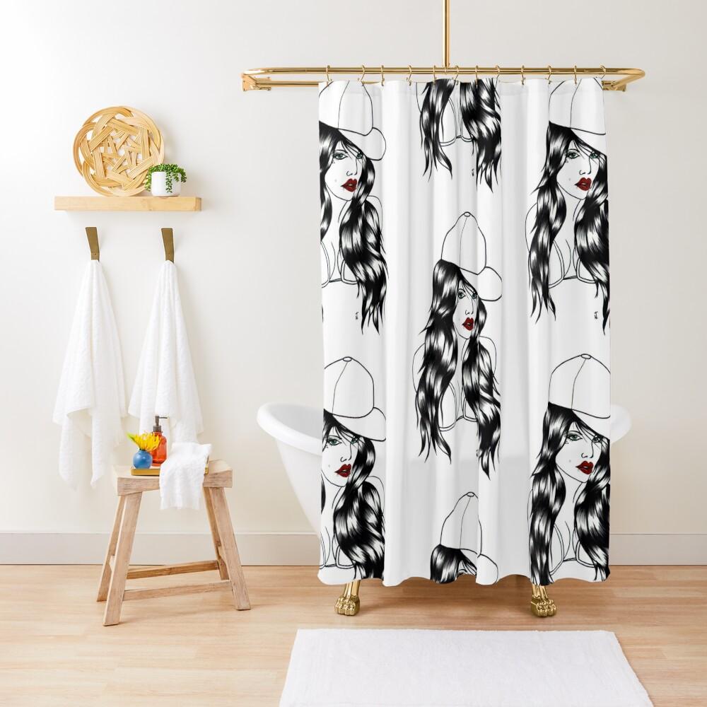 Blackwater girl - Cap Shower Curtain