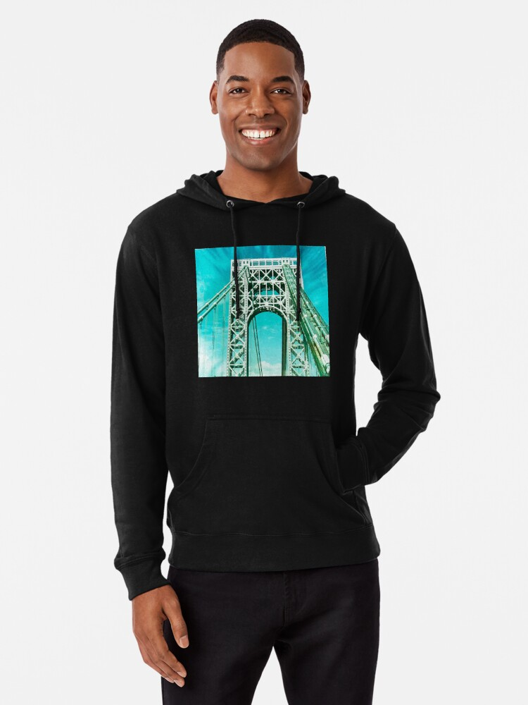 Alternate view of Gift for New Yorker - George Washington Bridge - New York City Lover Lightweight Hoodie
