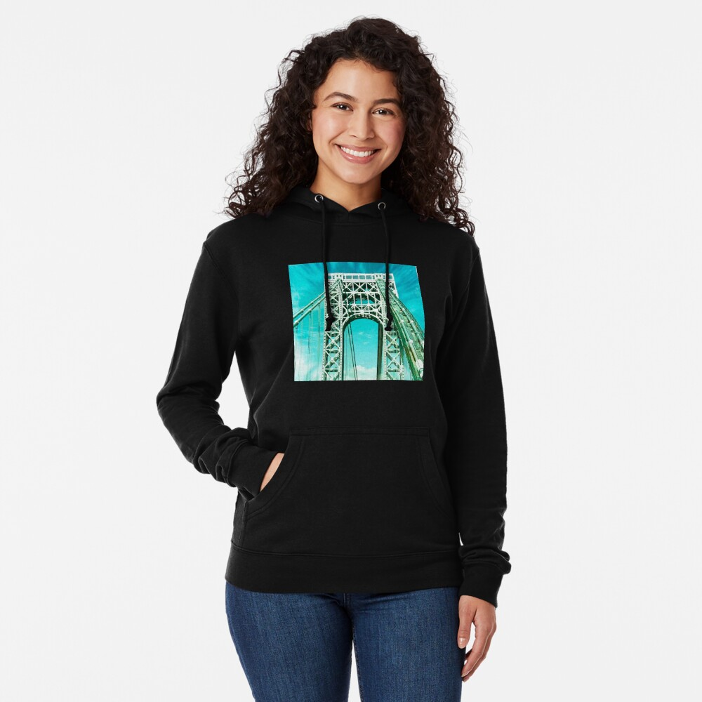 Gift for New Yorker - George Washington Bridge - New York City Lover Lightweight Hoodie