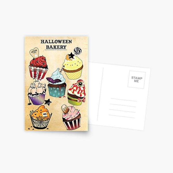 Halloween Bakery Postcard