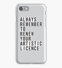 LICENCE RENEWAL iPhone Case/Skin