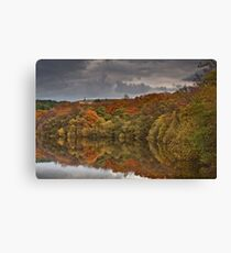 Darwen Tower from an autumnal Roddlesworth wood Canvas Print
