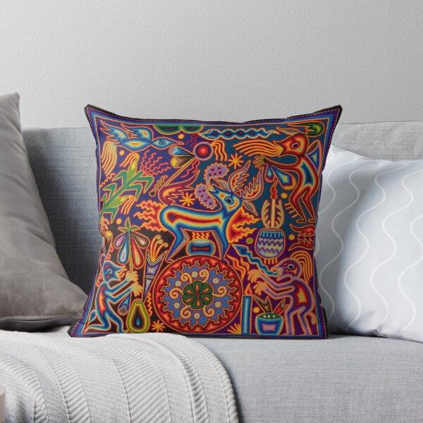 Huichol Throw Pillow