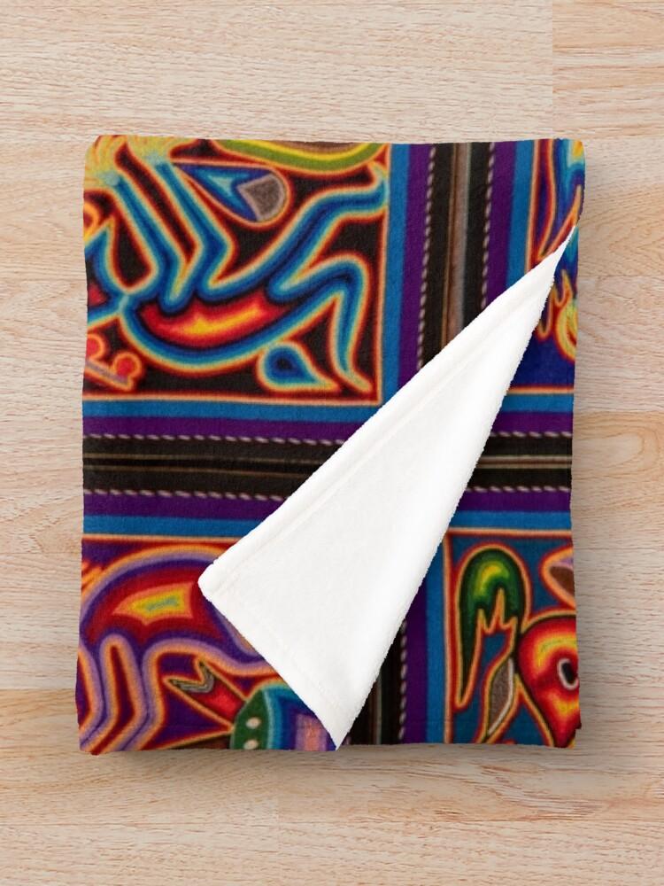 Alternate view of Huichol Throw Blanket