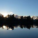 Sunset Silhuettes by Lake Idtjärn by HELUA