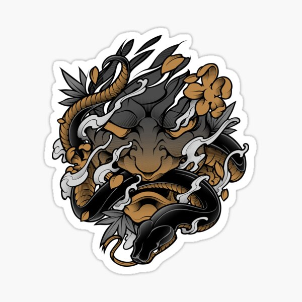 Oni Irezumi - Japanese Tattoo Style Sticker