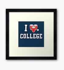 College Framed Print