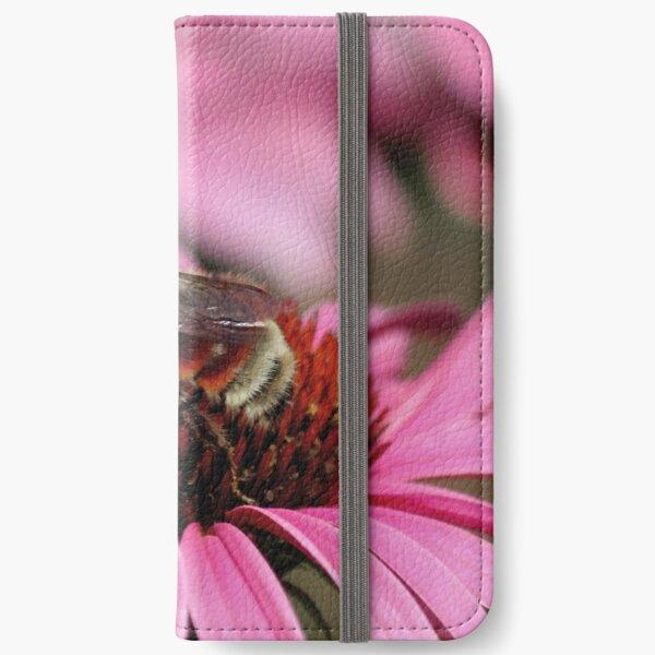 Bee on Pink Flower iPhone Wallet