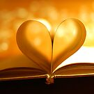 Book Heart Bokeh by Eric Martin