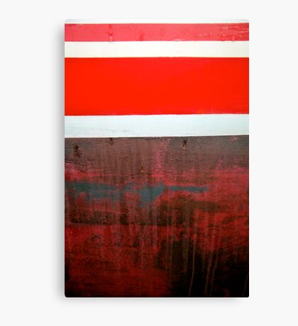 Boat Abstract in Red Canvas Print