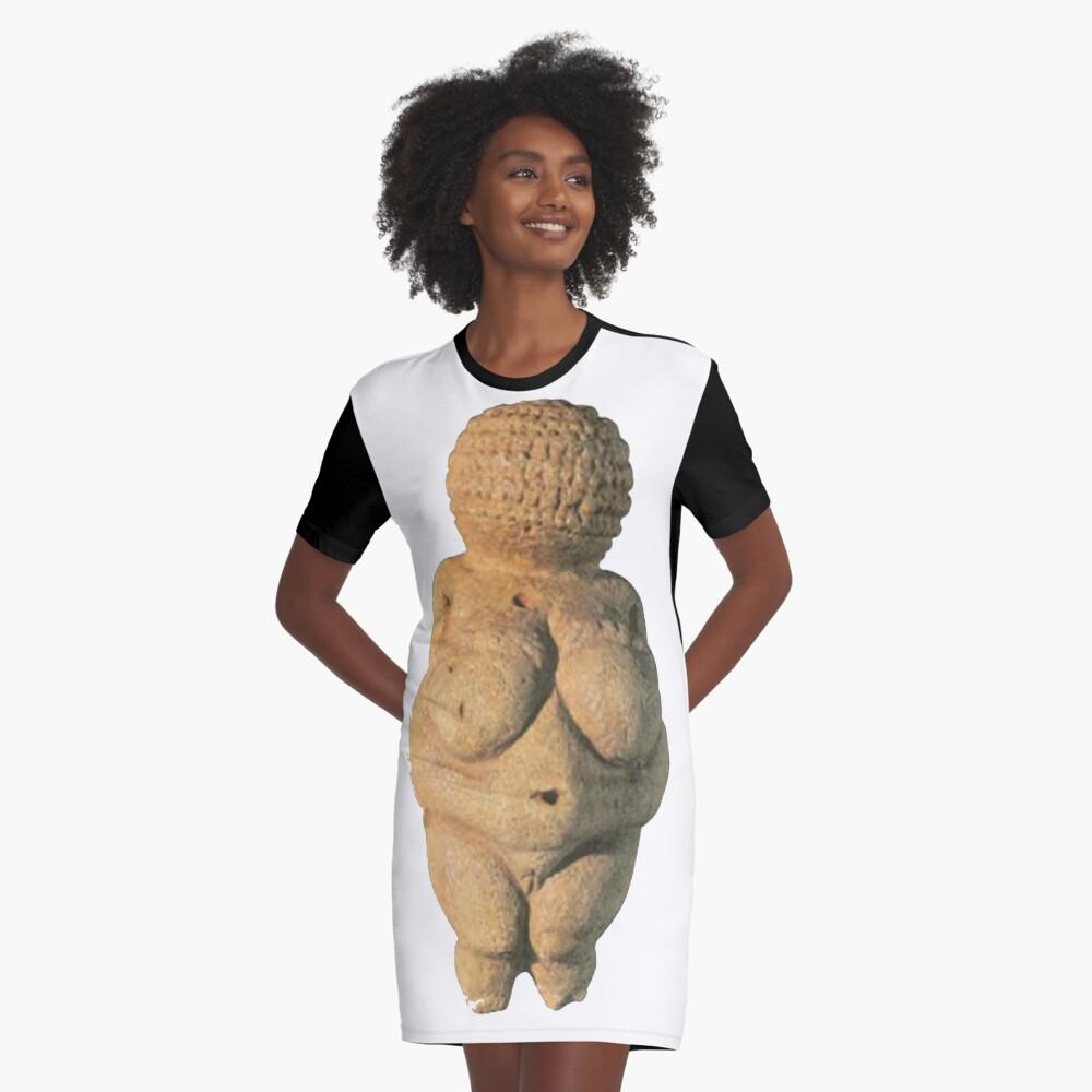 #Venus of #Willendorf #artifact sculpture art figurine statue humanbody #VenusofWillendorf Graphic T-Shirt Dress
