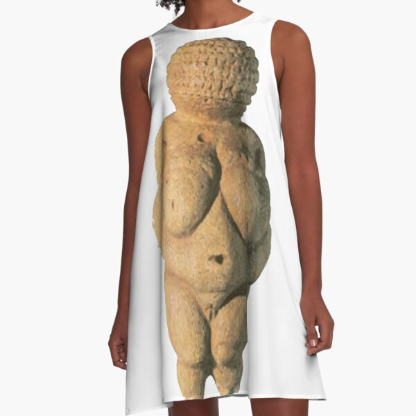 #Venus of #Willendorf #artifact sculpture art figurine statue humanbody #VenusofWillendorf A-Line Dress